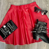 Cherry Bomb Skater Skirt Red