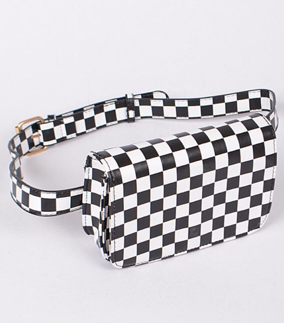 Checked Pick It Up Waist Belt Bag