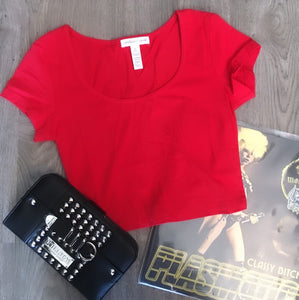 Butcher Baby Red Crop Top