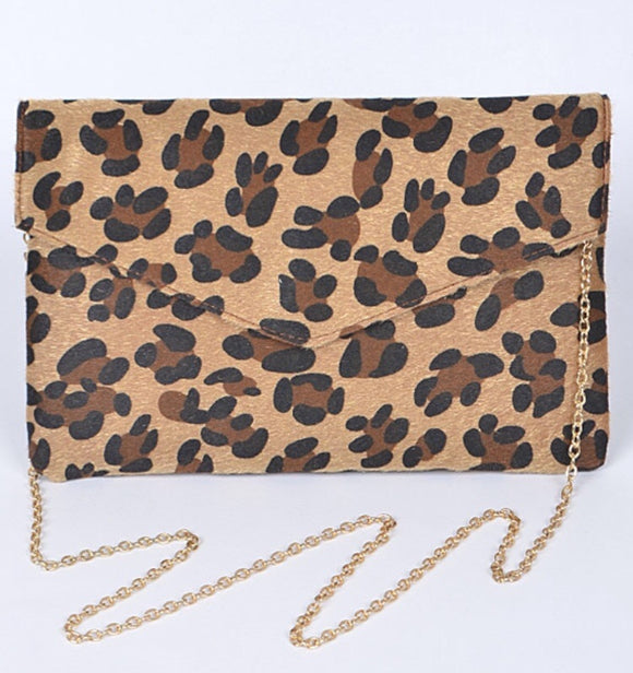 Leopard Envelope Clutch Purse