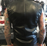 Mens Black Vegan Leather Vest (Only Small & Large left!)