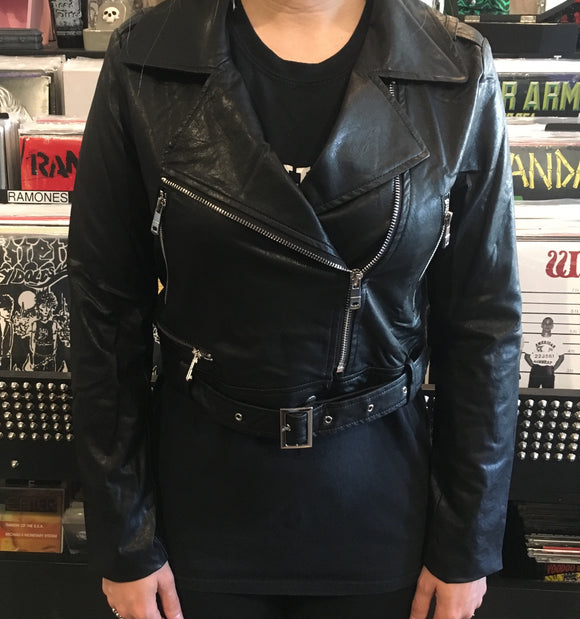 Super Crop Vegan Moto Jacket