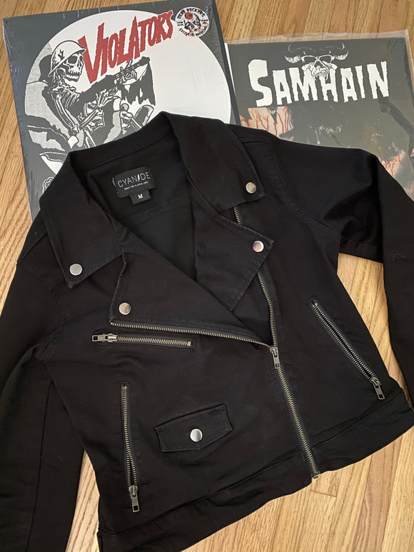 Roadrunner Black Moto Jacket