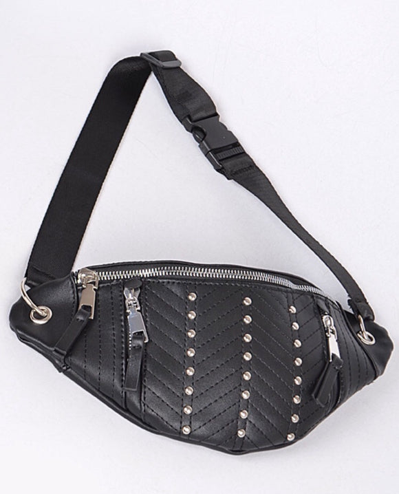 Studded & Stitched Fanny Pack