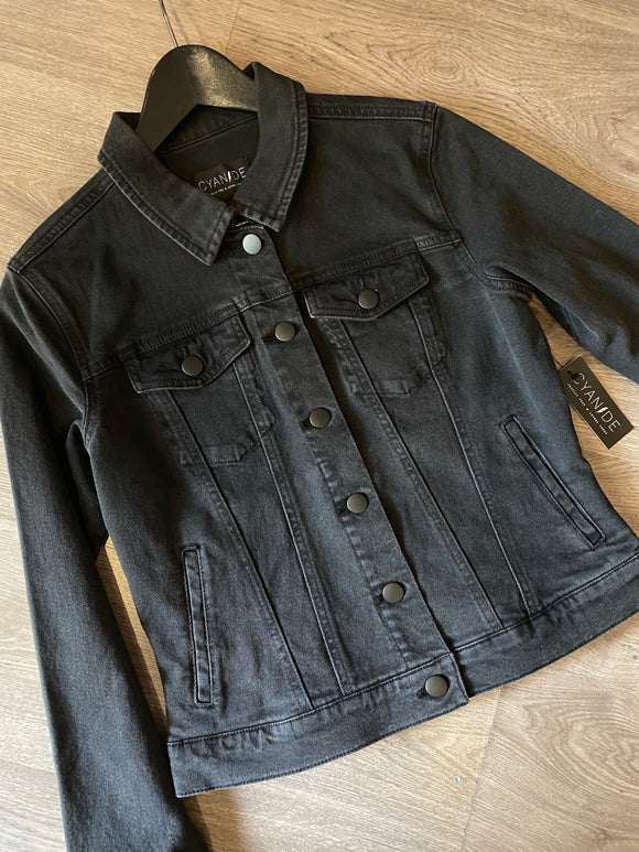 Cyanide Rambler Vintage-Wash Black Denim Jacket