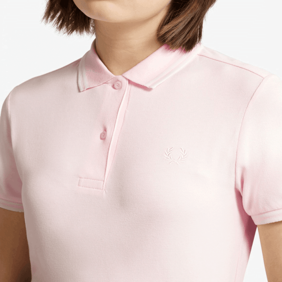 Fred Perry Polo Shirt Iced Pink // White (Last One!)