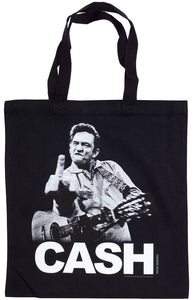 Johnny Cash The Bird Tote Bag - DeadRockers