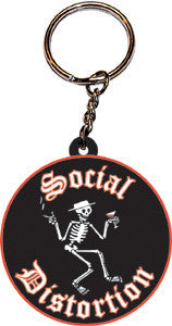 Social Distortion 3D Rubber Key Chain