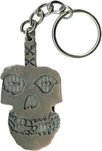 Misfits Skull Metal Key Chain