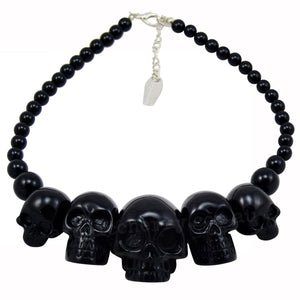 Black Skulls Necklace