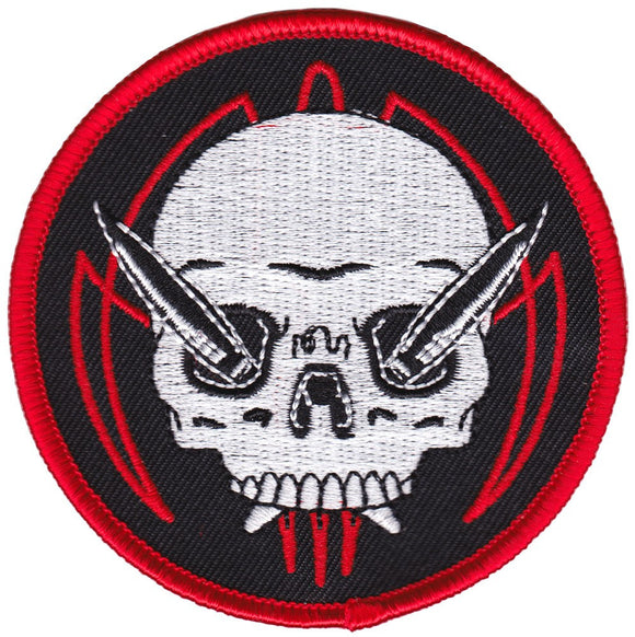 Pinstripe Skull Patch