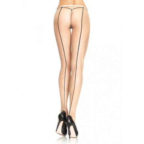2 Tone Backseam Fishnet Pantyhose - DeadRockers
