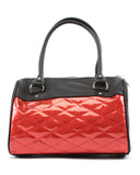 Mini Atomic Tote Black Matte & Red Sparkle