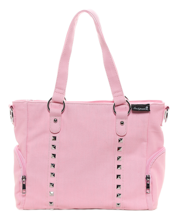 Pink Leda Canvas Stud Purse