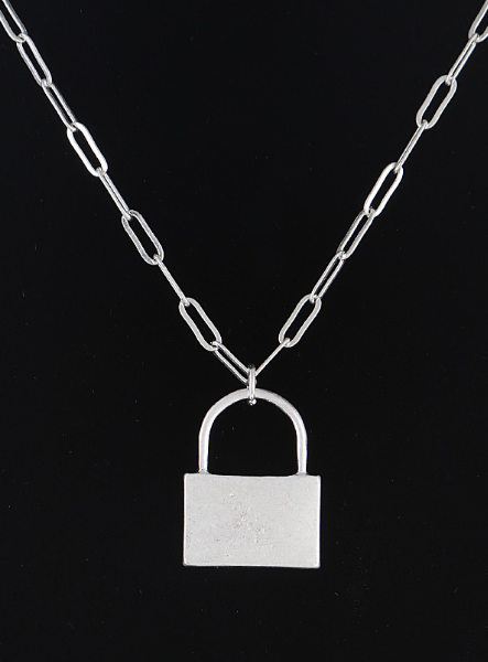 Chained Up Lock Necklace
