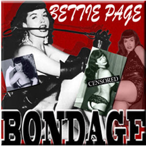 Bettie Page Bondage Magnet