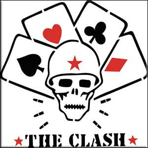 The Clash Skull and Cards Magnet - DeadRockers
