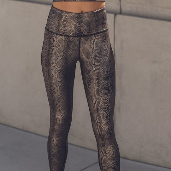 Copperhead Snakeskin Active-wear Leggings
