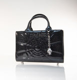 Mini Itsy Bitsy Tote Handbag Black Sparkle