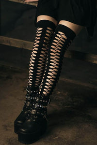 Epic Fishnet Thigh High Stockings