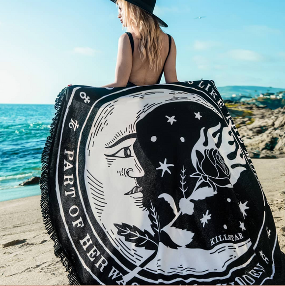 La Luna Moon Beach Towel