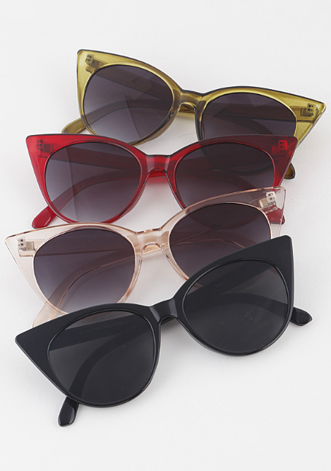 Like a Rolling Stone Rounded Cat Eye Sunglasses