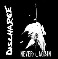 Discharge Never Again Sticker