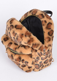 All The Fun Fuzzy Leopard Back Pack
