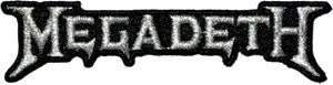 Megadeath Silver Logo Patch - DeadRockers