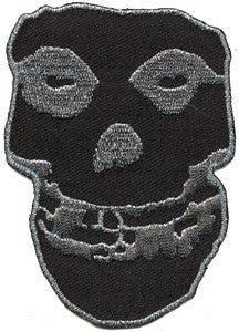 Misfits Black Skull Woven Back Patch - DeadRockers