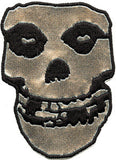 Misfits Silver Skull Woven Back Patch - DeadRockers