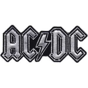 AC/DC Chrome Logo Patch - DeadRockers