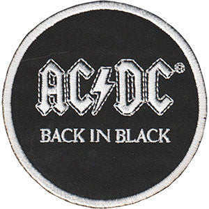 AC/DC Back in Black Round Patch - DeadRockers