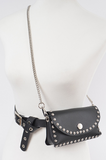 Studded Faux Leather Convertible Fanny Pack