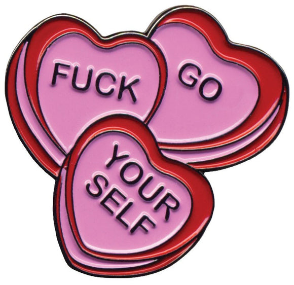 Candy Hearts Enamel Pin - DeadRockers