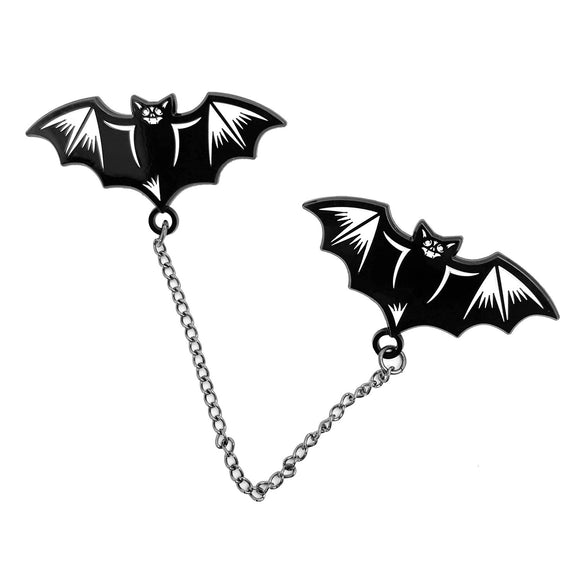 Nocturnal Bats Chain Enamel Pin