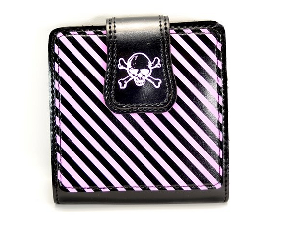Wasteland Pink Striped Wallet