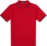 Fred Perry Polo Siren Red / Midnight Blue