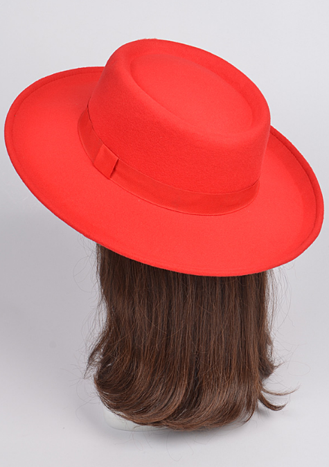 Red Bow Brim Hat