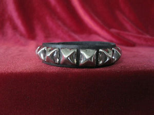 Single Row Pyramid Stud Wristband