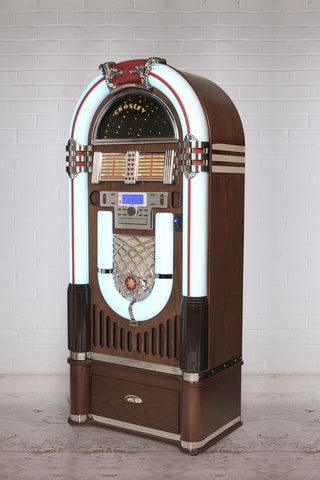Crosley iJuke Bluetooth Deluxe Full Size Jukebox - Walnut - DeadRockers
