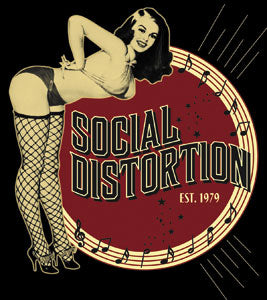 Social Distortion Pin Up Sticker