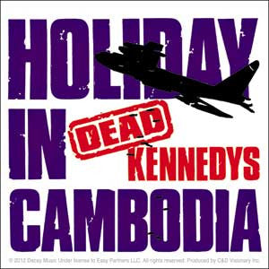 Dead Kennedys Holiday in Cambodia Sticker