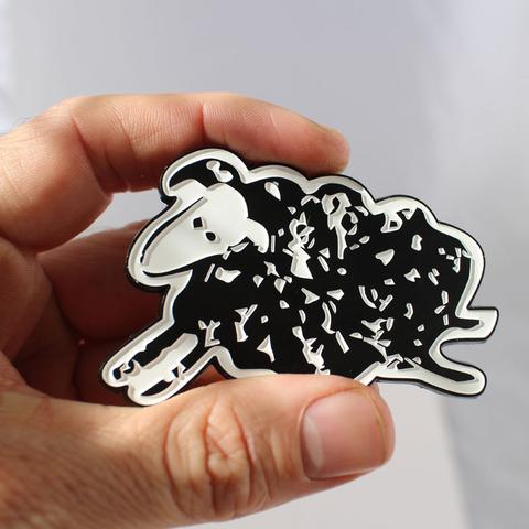 Black Sheep Jumbo Enamel Pin