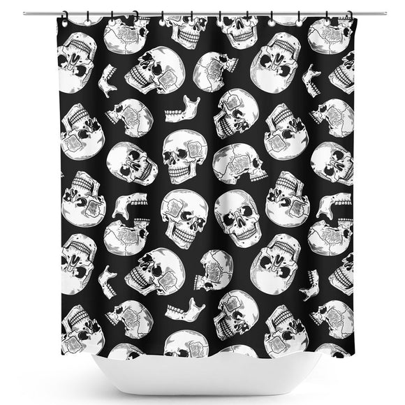 Anatomical Skulls Shower Curtain