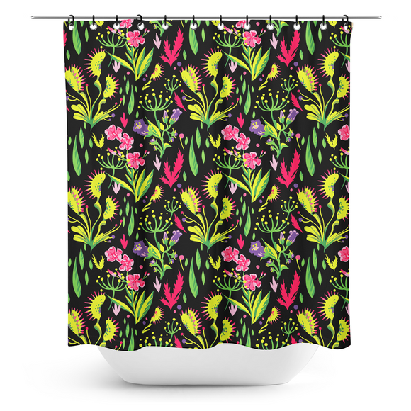 Deadly Beauties Shower Curtain