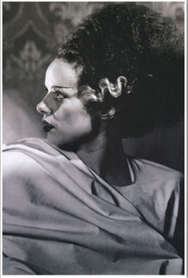 Bride of Frankenstein Side Profile Fine Art Print