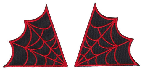 Spiderweb Collar Patches Red