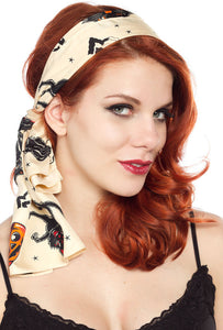 Black Cats Bad Girl Hair Scarf