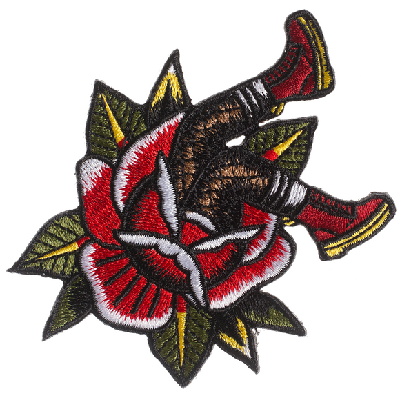 Rose & Boots Patch